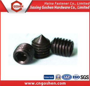 Black Hexagon Socket Set Screws with Cone Point DIN914 pictures & photos