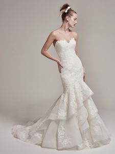 Mermaid Bridal Gowns Organza Lace Wedding Dresses S201737 pictures & photos