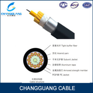 Tight Buffer Fiber Anti-Water Armored Strength Member Fiber Optic Cable Price List GJA pictures & photos