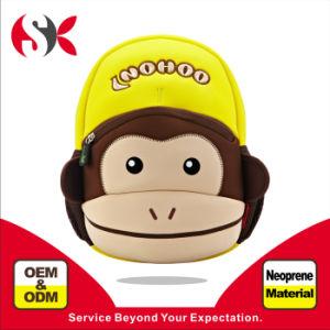 2016 New Kids School Bag with Cute Monkey Shape Neoprene