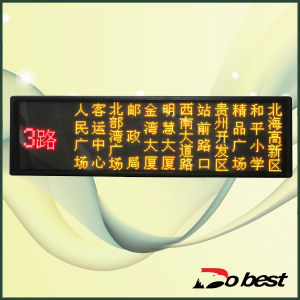 Bus LED Display Screen for Showing Destination and Route Number pictures & photos