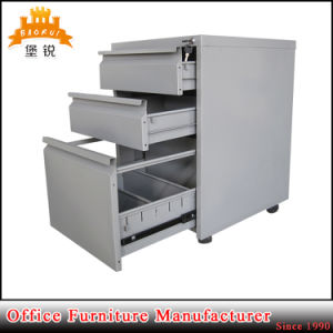 3 Drawer Iron Mobile Filing Cabinet pictures & photos