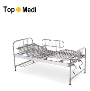 Topmedi Hospital Detachable Gaurd Stainless Steel Nursing Bed pictures & photos