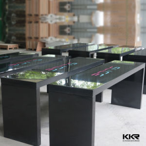 Artificial Stone Solid Surface White Coffee Table (V71012) pictures & photos