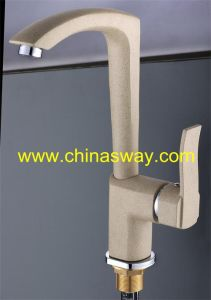 Granite Kitchen Sink Faucet, with Movable Spout, Beige (SW-09569-Q11) pictures & photos