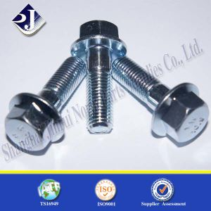 Flange Bolt with Blue Zinc Plated 8.8 SGS pictures & photos