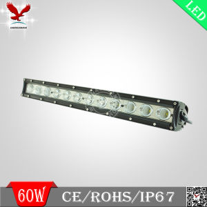 60W Super Bright Single Row Light Bar LED Car Light Bar / Water Proof LED Light Bar/ LED Light Bar for Trucks