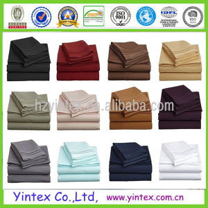 Solid Color Bedding Sets Cheap Microfber Bed Sheets pictures & photos
