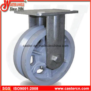 4 Inch to 8 Inch V-Groove Cast Iron Fixed Casters pictures & photos