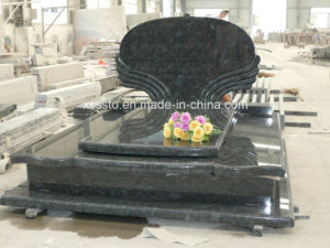 Butterfly Blue Granite European Memorial Gravestone for Cemetery pictures & photos