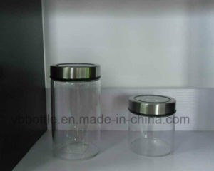 Tall Transparent Glass Jars for Noodles, Food Storage pictures & photos