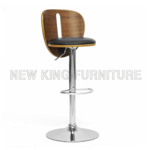 Tall Luxury PU Leather Chair Used Commercial Bar Stools (NK-BCB004)