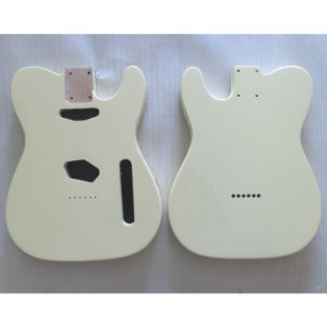 Nitro Satin Finished Vintage White Alder Tele Guitar Body pictures & photos