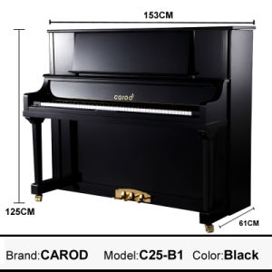 Hot Sale 125cm Black Upright Piano pictures & photos