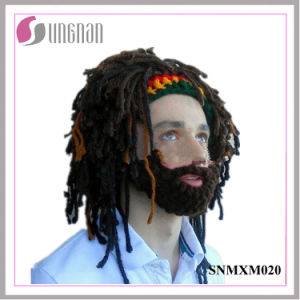 2016 Handmade Wig Wool Hat Bearded Rasta Knitted Crocheted Hat (SNMXM020) pictures & photos