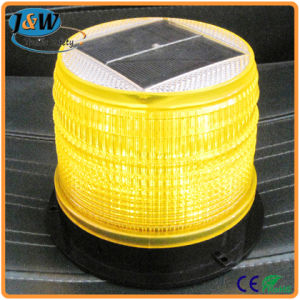High Brightness Amber LED Solar Powered Strobe Flashing Warning Light pictures & photos