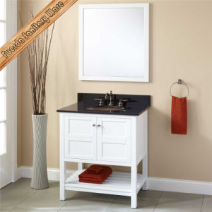 Fed-353 Modern Luxury Solid Wood Oak White Bathroom Vanity pictures & photos