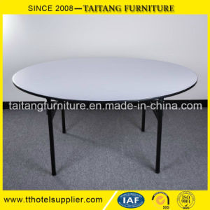 Chinese Factory PVC and Plywood Top, Metal Frame Folding Table pictures & photos