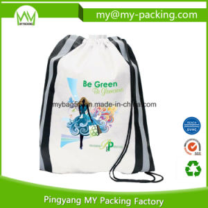 Nonwoven or Polyester Printed Student Drawstring Bag pictures & photos