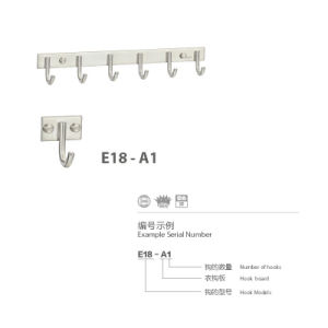 304 Stainless Steel Straight Clothes Robe Hook (E18-A1) pictures & photos