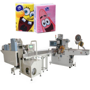Pocket Tissue Paper Package Machine with Pattern Embossing pictures & photos