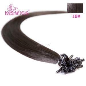 High Quality 100% Remy U-Tip Hair Extension, Indian Temple Hair pictures & photos
