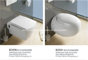 837 Sanitary Ware, Water Closet, Ceramic Washdown Wall-Hung Toilet pictures & photos