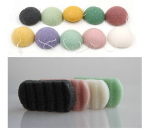 Charcoal Konjac Cleansing Sponge Skin Care Konjac Sponges, Face Konjac Sponge, Natural Makeup Sponges pictures & photos
