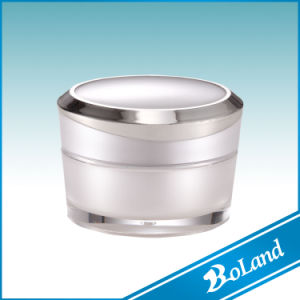30g Cylindrical Plastic Acrylic Cosmetic Jar for Cream