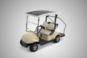 Solar Energy Golf Car with 2 Seats, Electric Car, Electric Vehicle (EQ9022S) Made by Dongfeng