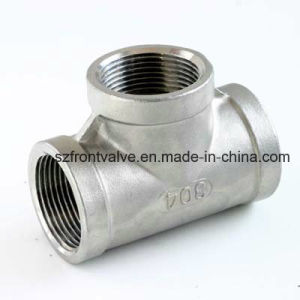 Precision Casting Stainless Steel Screwed Reducing Tee pictures & photos