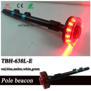 New Design Red Motorcylce Rear LED Revolving Beacon with Black Mounting Pole (TBH-638M-E) pictures & photos