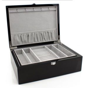 Espresso Leather Jewelry Box (HX-A0750) pictures & photos