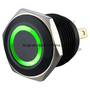 16mm Electrical Black Ring Anti-Vandal Push Button Switch (Ls16) pictures & photos