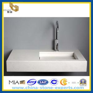 Pure White Artificial Quart Bathroom Vanity Top (YQZ-QC1004) pictures & photos