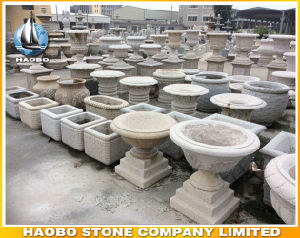 Granite Garden Flower Pot Stone Vase pictures & photos