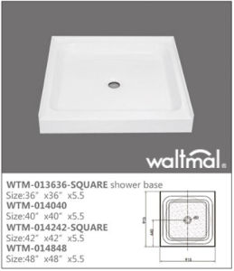 Cupc Approved Quality Acrylic Shower Tray/Base with 3 Flange pictures & photos