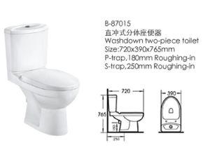 Bathroom Furniture Two-Pieces Closet (87015) pictures & photos