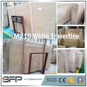 M210 Natural White Travertine for Floor Tile/ Wall Cladding Tile pictures & photos