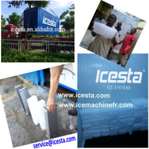 Containerized Brine Water Cooling System Block Ice Machine for Africa pictures & photos