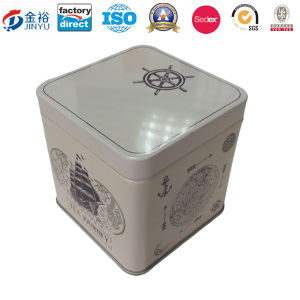 70X70X70mm Square Shaped Tea Tin Aortight Lid for Promotion pictures & photos