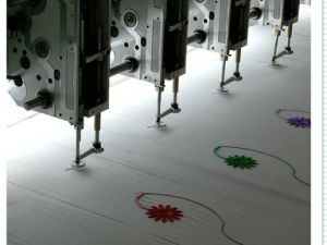 Good Quality Flat Embroidery Machine for Leather/Curtain/Cloth pictures & photos