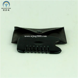Bian Stone (Black) Meridian Scraping Comb Gua Sha Tools (G-3A) Acupuncture pictures & photos