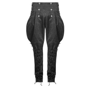 K-240 Spring Latest Jacquard Design Gothic Men Breeches Pants pictures & photos