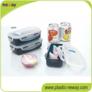 Square PP Plastic Food Container with Locks pictures & photos