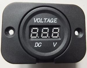 12V /24V Red LED Car Digital Voltage Volt Meter Display for Car Tuck Motorcycle pictures & photos