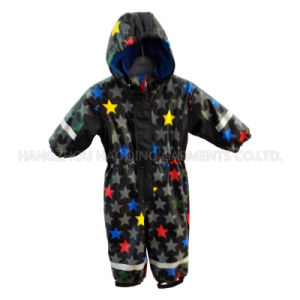 Colourful Star PU Overall for Baby/Children Raincoat pictures & photos