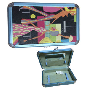 Colorful Jewerlly Box Cosmetic Case with Mirror pictures & photos