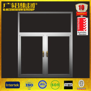 Powder Coated Aluminium Casement Glass Window with Multi-Point Lock Handle pictures & photos