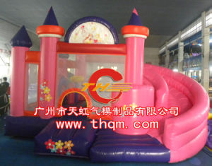 Inflatable Bouncy Bed /Inflatable Castle/Princess Colorful Castle pictures & photos